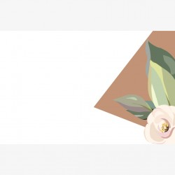 Visitenkarte Glitter Flower