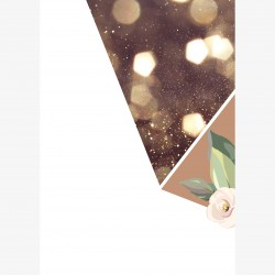 Grußkarte Glitter Flower