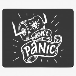 Textil-Mousepad Don't panic