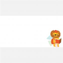 Aufkleber eckig Löwe