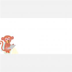 Aufkleber eckig Affe